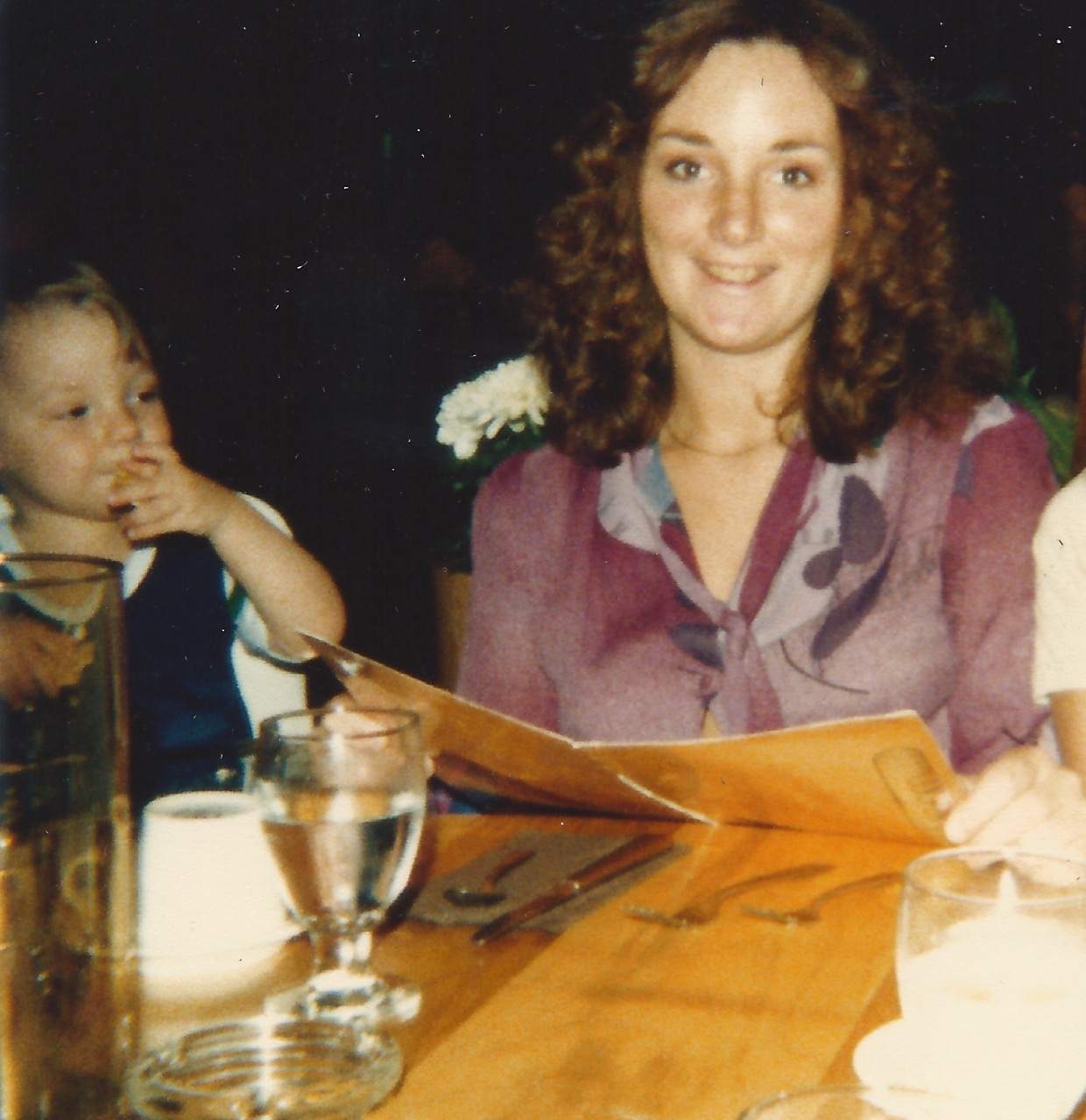 Barb with Josh abt 1982