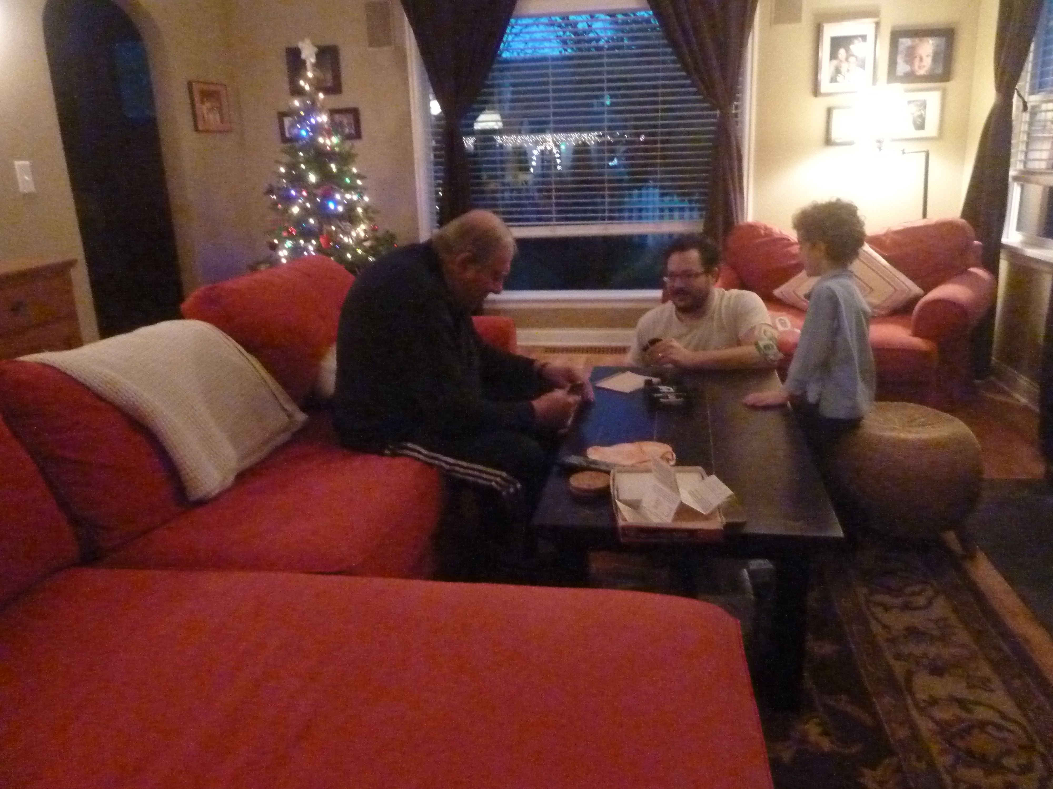 Playing UNO with G'Pa Ed